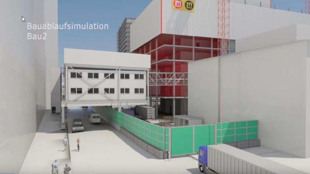 Bauablaufsimulation Bau 2 Roche Basel