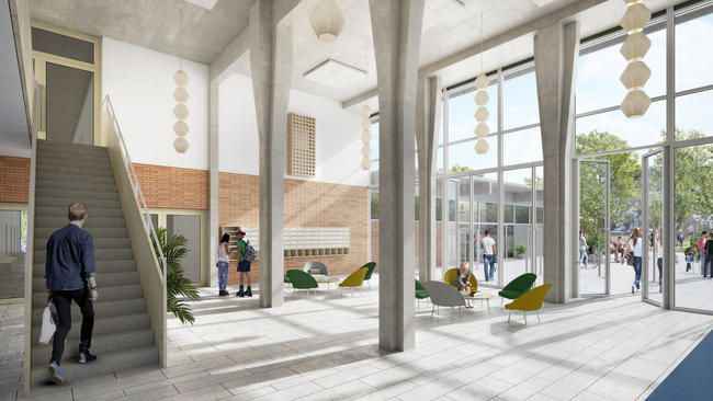 Siegerprojekt Felix Platterspital Foyer