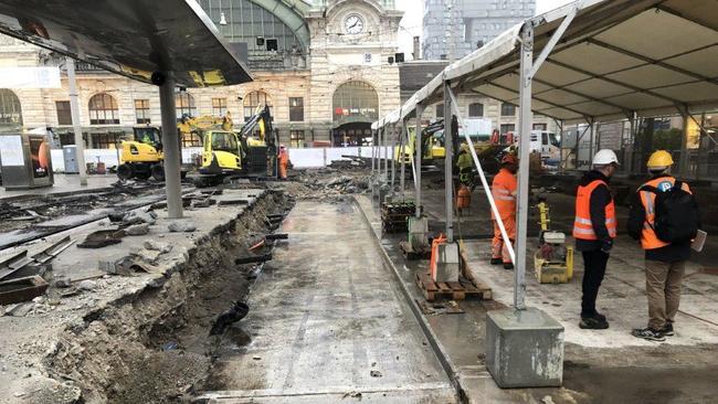 Gleiserneuerung Centralbahnplatz Basel
