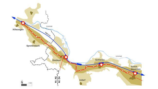 Limmattalbahn 2. Etappe 3